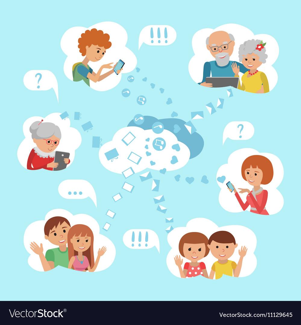 Family online social media.