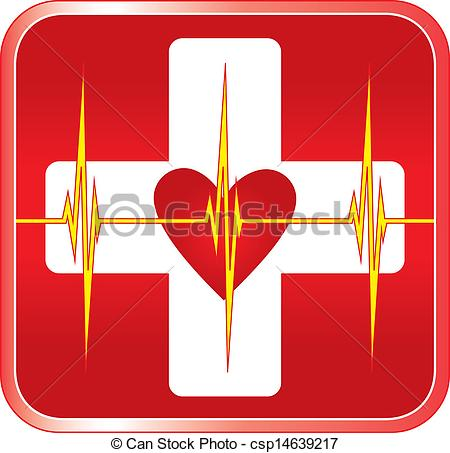Vector Clip Art of First Aid Medical Symbol.