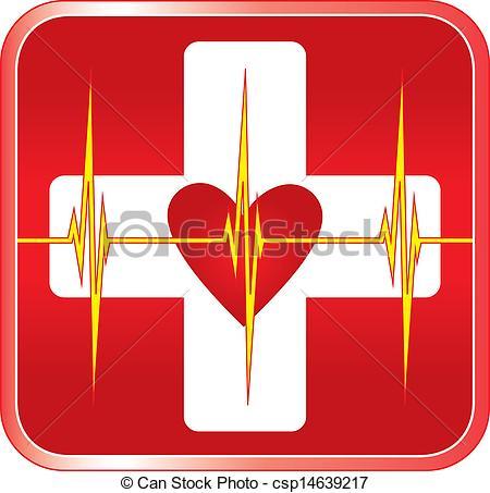 Vector Clip Art of First Aid Medical Symbol.