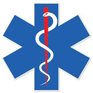 Details about Medical Alert Symbol EMS EMT medics sticker 4\