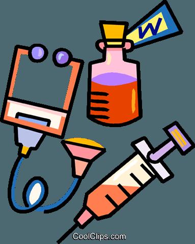 medical equipment Royalty Free Vector Clip Art illustration.