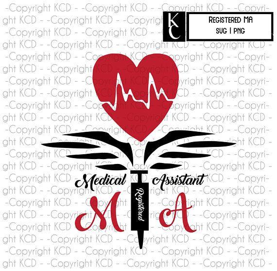 Registered Medical Assistant SVG Syringe Heart Shirt Graphic.