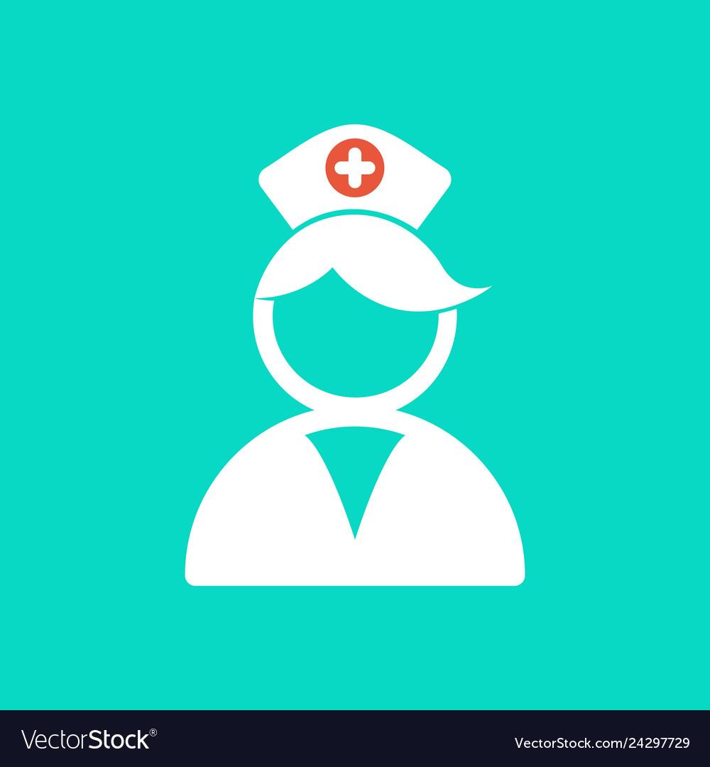 Nurse logo medical assistant icon care.