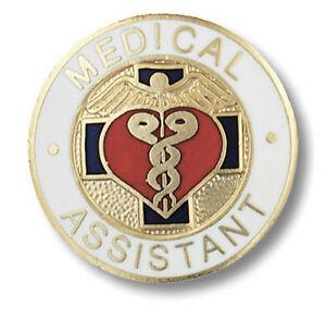 Details about NEW! Medical Assistant Emblem Pin.