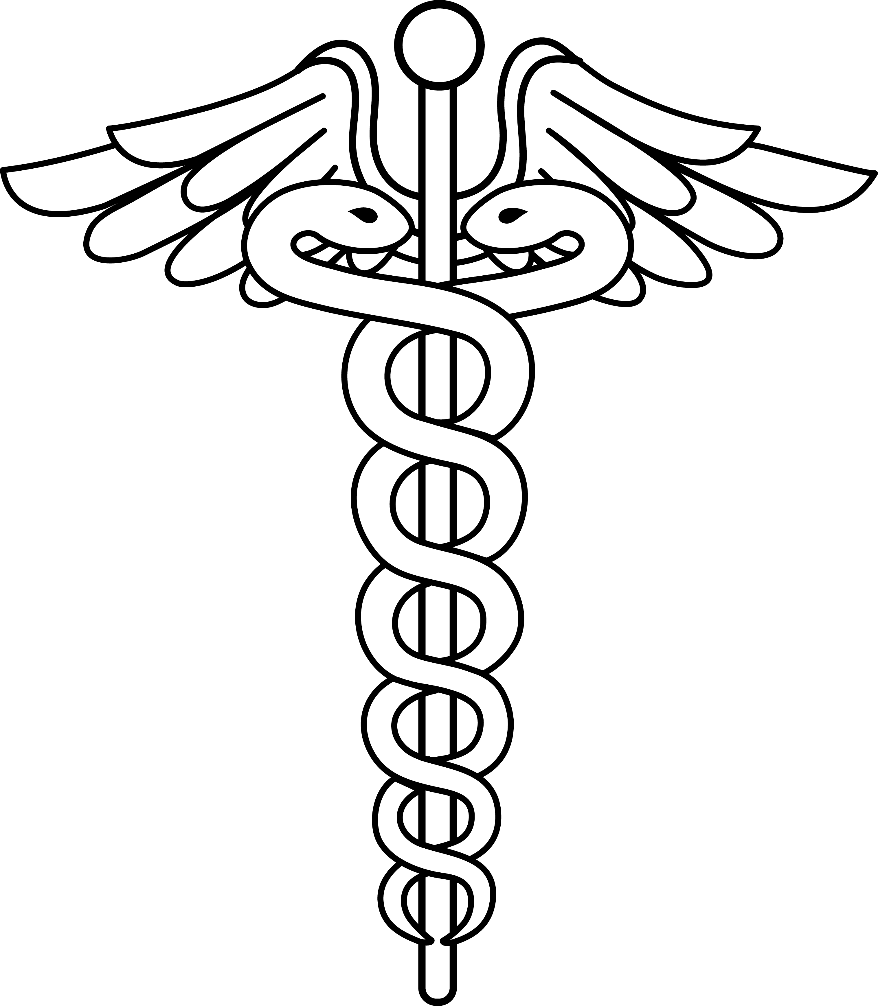 Caduceus Medical Logo Lineart.