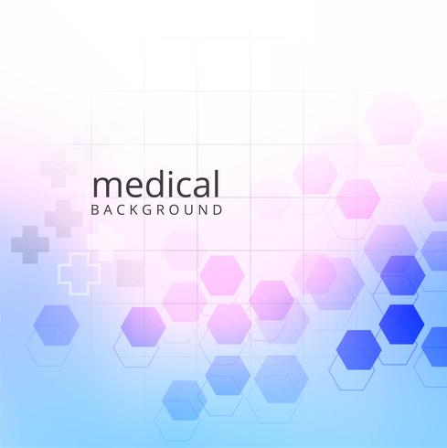 Medical background with hexagonal geometric shapes design.