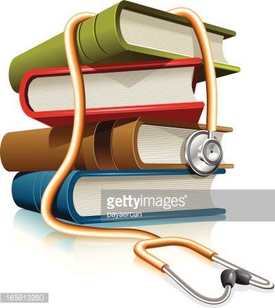 medical books Clipart Image.