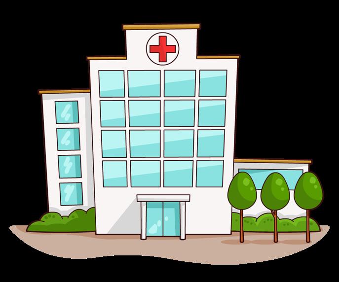 Medical building clipart.