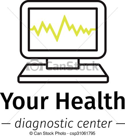 EPS Vectors of Vector trendy line style medical center logo.