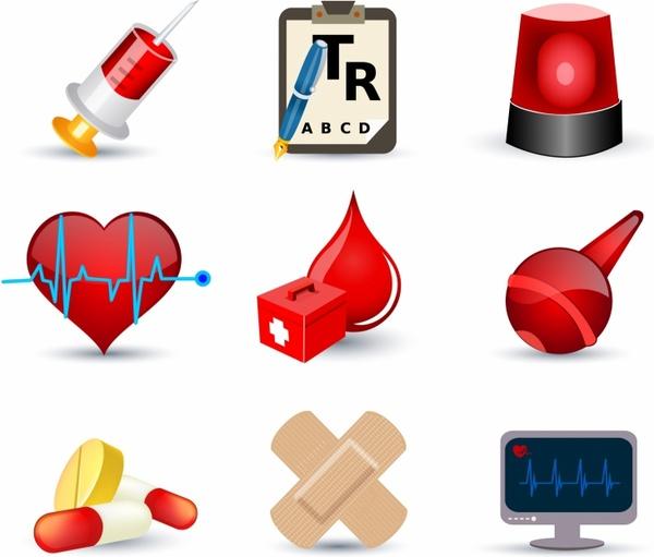 Medical icons Free vector in Adobe Illustrator ai ( .AI.