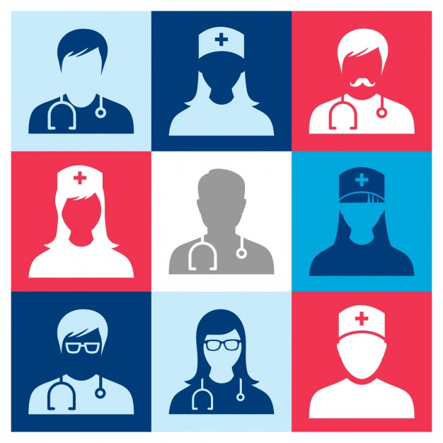 Medical people icons Vector.