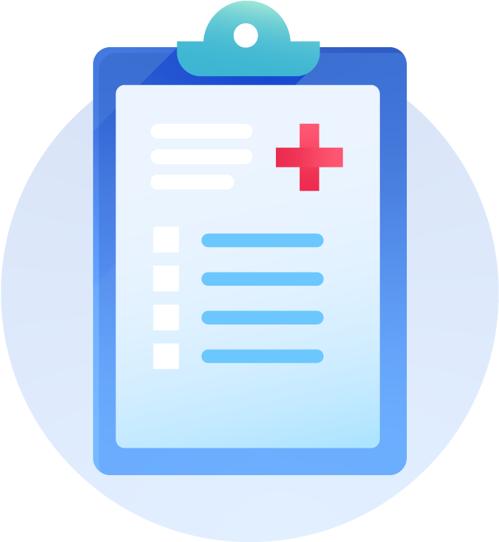 Clipboard With Medical Record.