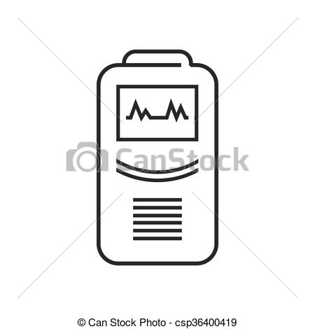 Vector Clip Art of line icon Medical Device Icon, Health care.