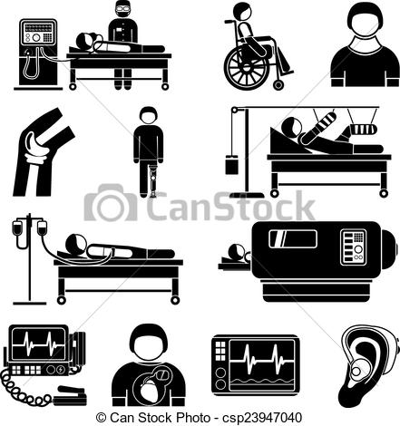 Medical devices clipart.