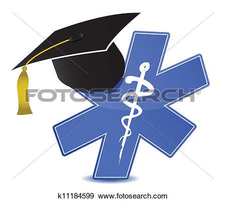 Clip Art of medical education symbol k11184599.