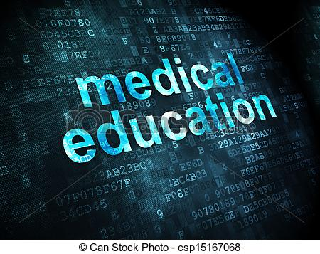 Stock Illustration of Education concept: Medical Education on.