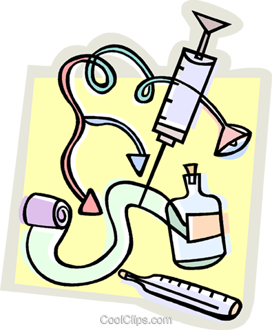 medical equipment and tools Royalty Free Vector Clip Art.