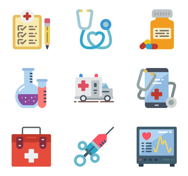 Medical equipment Icons.
