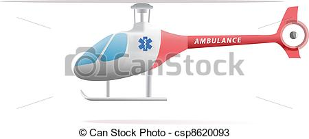 Vectors of Medical evacuation helicopter illustration isolated on.