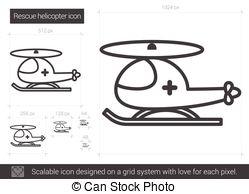 Medical evacuation helicopter illustration isolated on white.