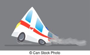 Vector Illustration of Ambulance. Emergency medical accident.