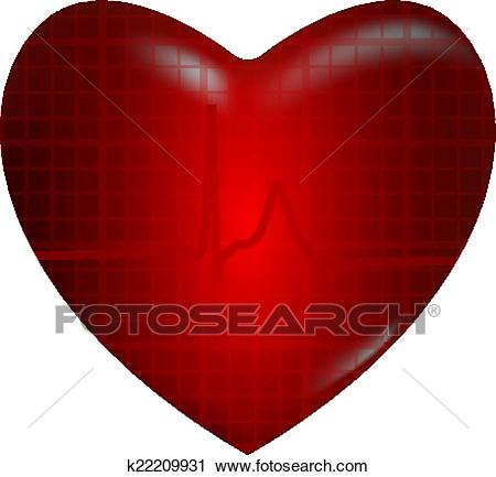 Concept of medical problem with heart Clipart.