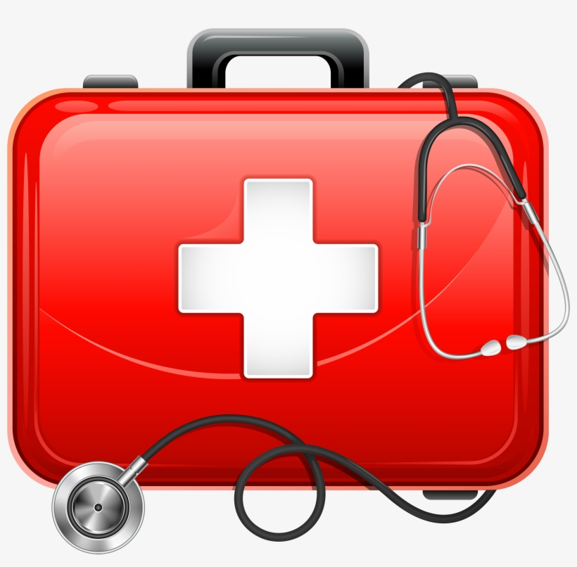 Medical Bag And Stethoscope Png Clipart.