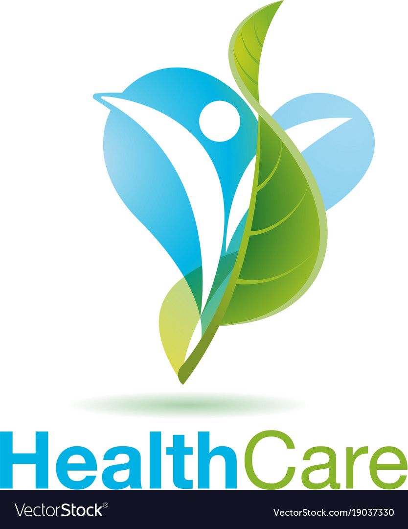Healthy people logo medical logo design concept.