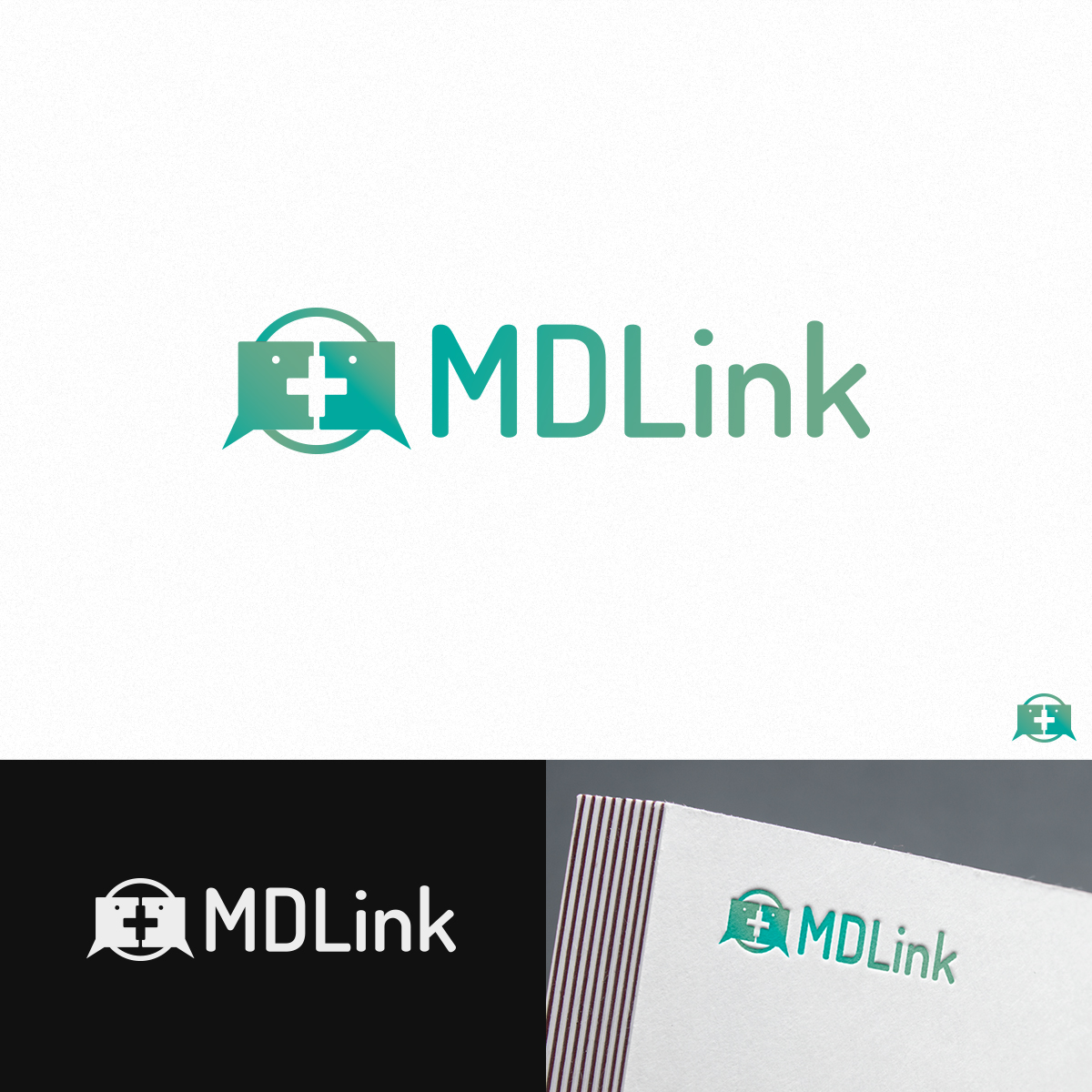 Medical Logo Design for MDLink by Kimosis Designs.