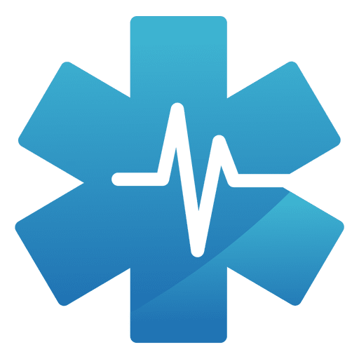 Heartbeat star medical logo.