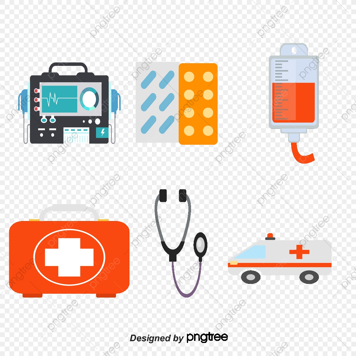 Flat Medical Vector Material, Nurse, Ambulance Staff PNG and.