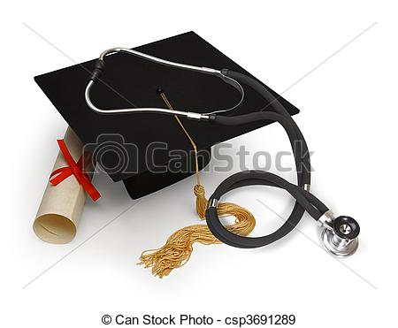 Medical School Graduation Clipart.