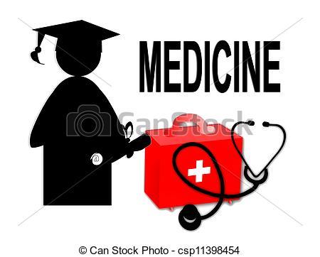 Medical School Graduation Clipart.