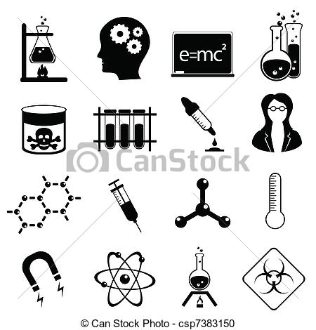 Vector Clipart of Science icon set.