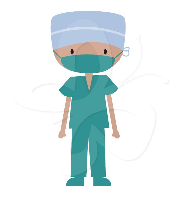 Medical Scrubs Clipart.