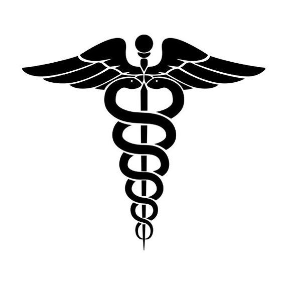 Caduceus vinyl decal sticker for Car/Truck Window clipboard.