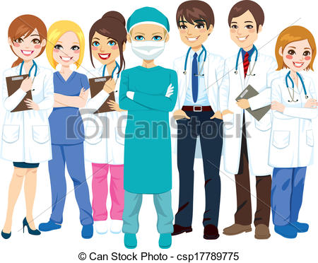 Hospital Staff Clipart.