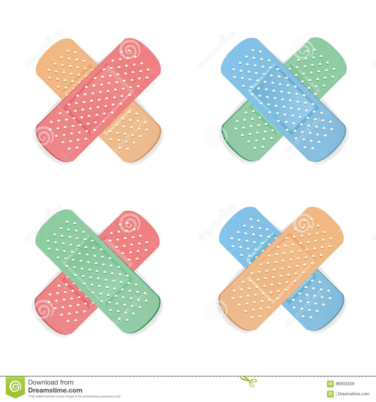 Medical Patch Vector. First Aid Band Plaster Strip Medical Patch.