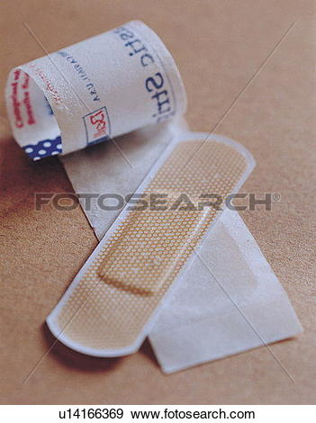 Stock Photograph of medical equipment, strip, medical dressing.