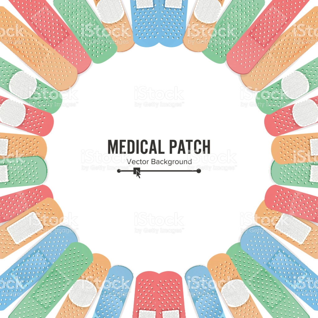 Medical Patch Vector First Aid Band Plaster Strip Medical Patch.