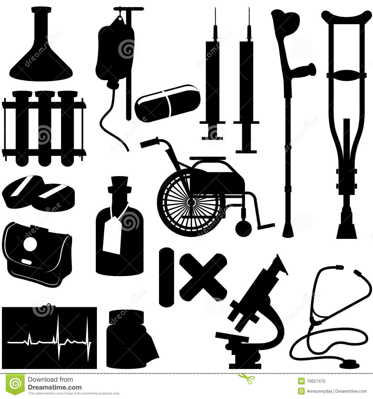 Home Medical Supplies Clip Art.