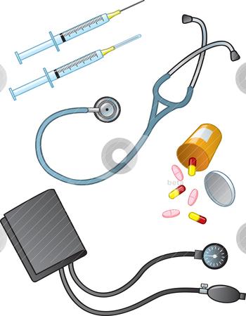Medical supplies clipart.