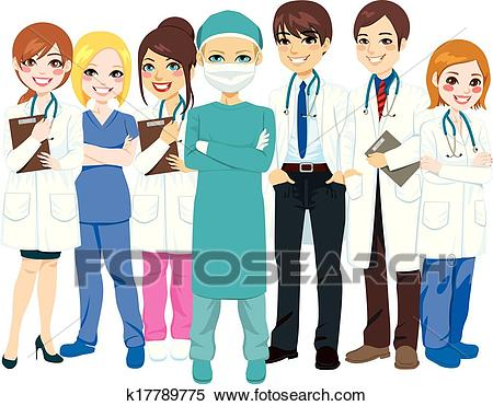 Hospital Medical Team Clipart.