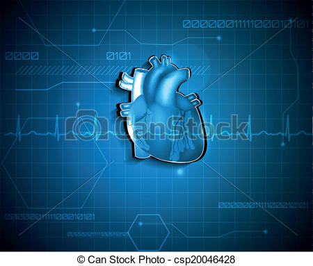 Vector Illustration of Abstract cardiology background. Medical.