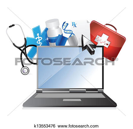 Clip Art of medicine, medical technology concept k13553476.