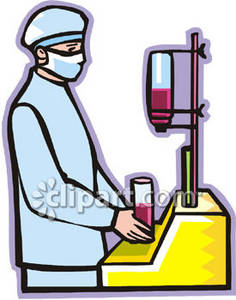 Clipart Picture of a Lab Technician Working With Blood.