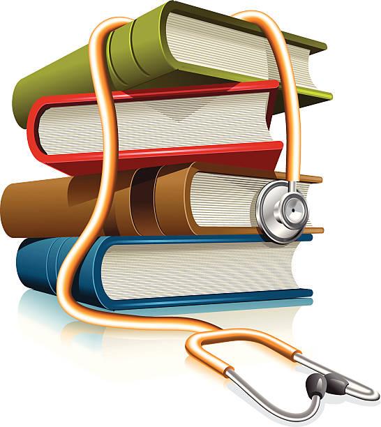 Medical Books Clipart.