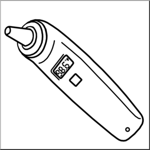 Clip Art: Medicine & Medical Technology: Thermometer.