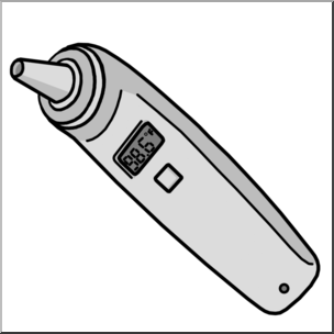 Ear Thermometer Clipart.