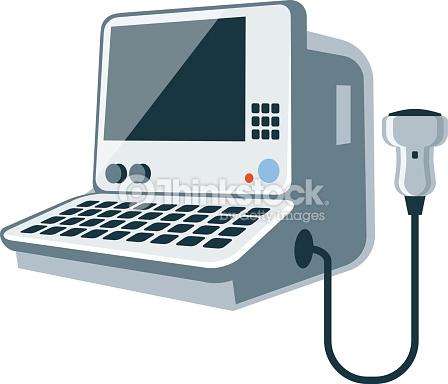 Ultrasound machine clipart.